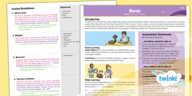 History: Benin UKS2 Planning Overview