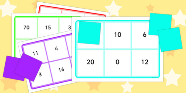 Multiplication and Division By 2, 5 and 10 Bingo - bingo, multiplication, division