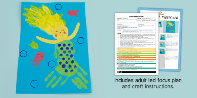 Handprint Mermaid Craft Adult Led Focus Plan And Craft Pack