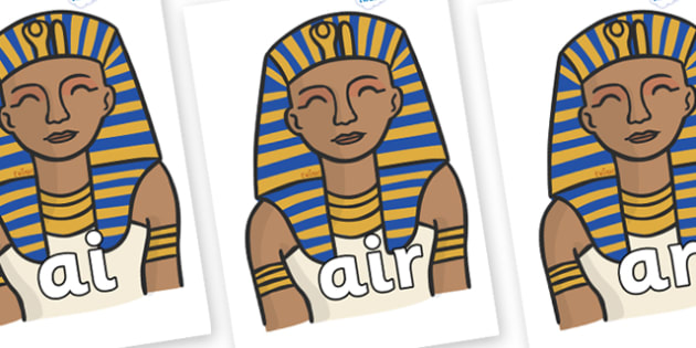 Phase 3 Phonemes on Pharaoh - Phonemes, phoneme, Phase 3, Phase three, Foundation, Literacy, Letters and Sounds, DfES, display
