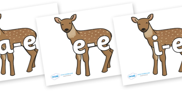 Modifying E Letters on Fawns - Modifying E, letters, modify, Phase 5, Phase five, alternative spellings for phonemes, DfES letters and Sounds