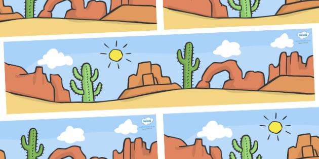 Self Registration Background (American Desert) - Self registration, background, desert, America, USA, display, editable, label, topic, self registration