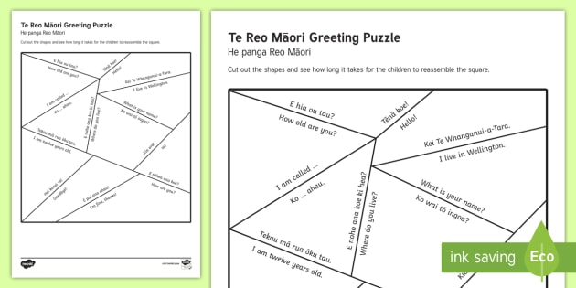 E reo mori greetings puzzle worksheet activity sheet te reo e reo mori greetings puzzle worksheet activity sheet te reo maorienglish sh m4hsunfo