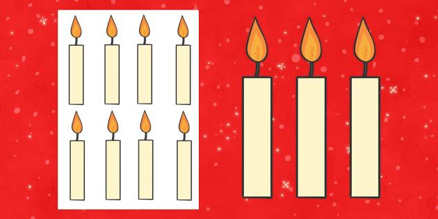 Editable Candles - Christmas, xmas, candles, candle, editable, tree, advent, nativity, santa, father christmas, Jesus, tree, stocking, present, activity, cracker, angel, snowman, advent , bauble