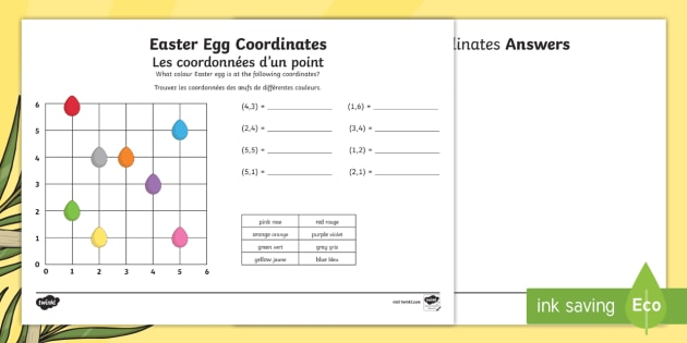 new easter coordinates activity sheets english french ks2 maths. Black Bedroom Furniture Sets. Home Design Ideas