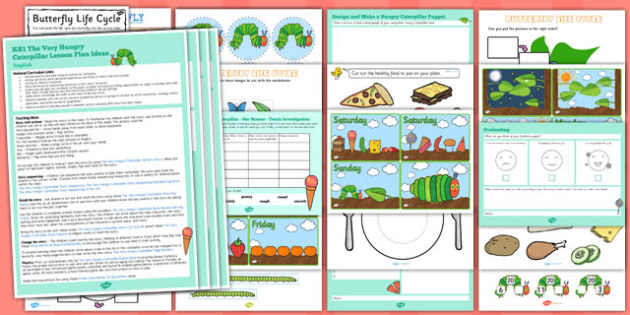 KS1 Lesson Ideas and Resource Pack to Support Teaching on The Very Hungry Caterpillar