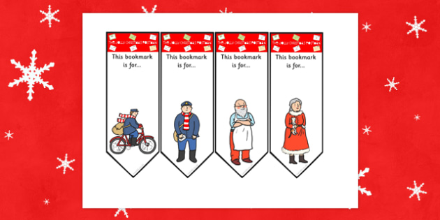 Editable Bookmarks to Support Teaching on The Jolly Christmas Postman - the jolly christmas postman, bookmarks, the jolly postman bookmarks, christmas bookmarks, editable