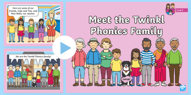 Meet the Twinkl Phonics Family Level 3 PowerPoint - Phonics
