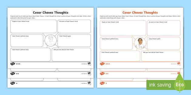 cesar chavez mind map differentiated activity sheet historical. Black Bedroom Furniture Sets. Home Design Ideas