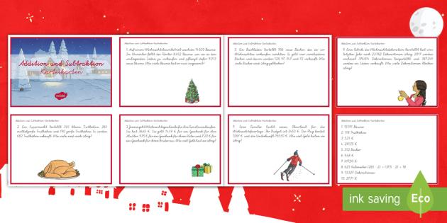 Tolle Weihnachts Addition Und Subtraktion Arbeitsblatt ...