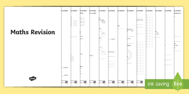 KS2 Maths Worksheets Year 3 Revision Booklet (teacher Made)
