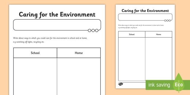 looking after the environment ks1 worksheet. Black Bedroom Furniture Sets. Home Design Ideas