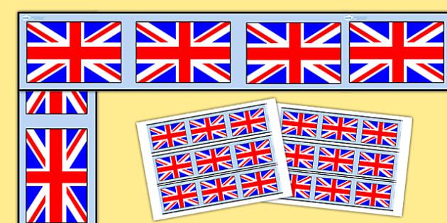 Union Jack Display Borders - Football, Flag, World Cup, Soccer, display border, classroom border, border, nations, countries, flags
