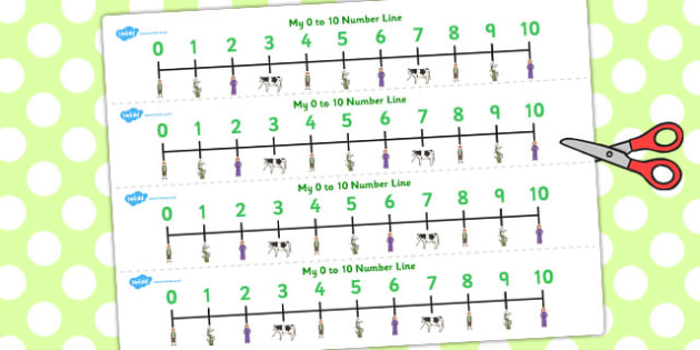 Jack and the Beanstalk Number Lines 0-10 - number line, jack