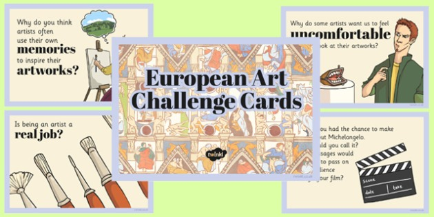 European Art Challenge Cards - european art, challenge cards, challenge, cards