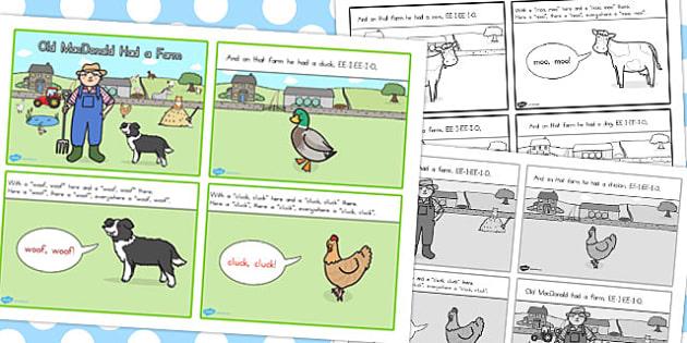 Old MacDonald Had a Farm Story Sequencing 4 Per A4 - australia