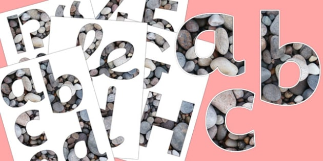 Pebbles Texture Display Letters and Numbers Pack - display, letters