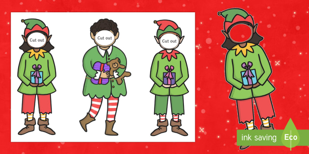 make yourself an elf face and body template elf santa s