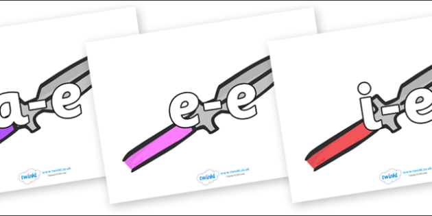 Modifying E Letters on Spears - Modifying E, letters, modify, Phase 5, Phase five, alternative spellings for phonemes, DfES letters and Sounds