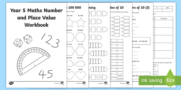 NEW * Maths Number And Place Value Workbook Year 5 - Homework Task