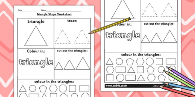 Shapes, 2D Shapes, Tracing