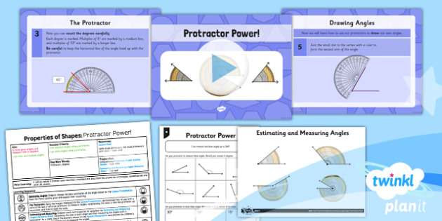 PlanIt Maths Y5 Properties of Shapes Lesson Pack Draw and Measure Angles (1)
