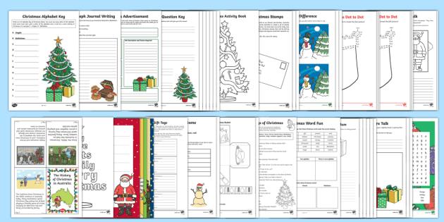 Australian Christmas Activities Resource Pack - Christmas Australia,Australia
