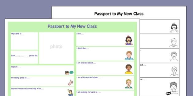 to a New Class - passport, new class, new, class, pass