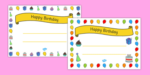 General Happy Birthday Certificates-happy birthday, birthday, pupil information, class birthdays, months, years, dates, certificates, awards