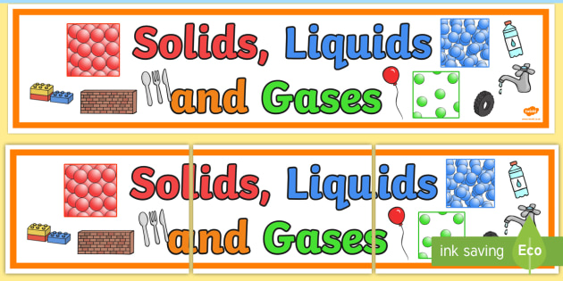 4a4ca9f0 FREE! - Solids Liquids and Gases Display Banner - States, mat ...