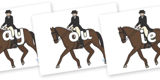 Phase 5 Phonemes on Equestrian (Horses) - Phonemes, phoneme, Phase 5, Phase five, Foundation, Literacy, Letters and Sounds, DfES, display