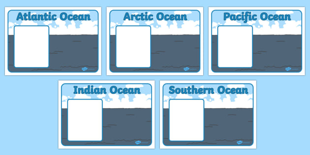 5 Oceans Editable Group Signs -