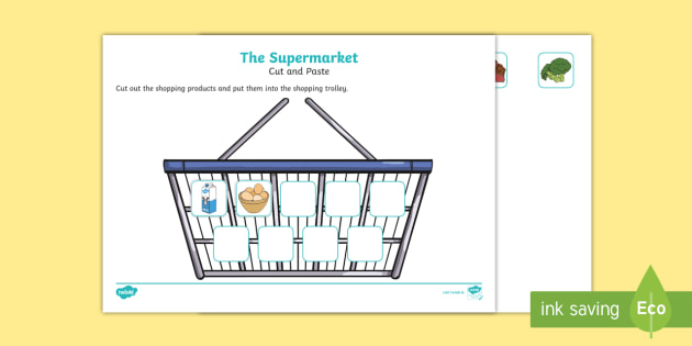 roi t the supermarket aistear cut and paste activity sheet ver 1