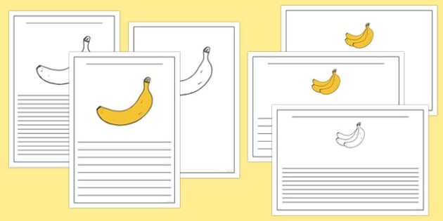Fairtrade Fortnight Banana Themed Writing Frames - fairtrade fortnight, banana, fairtrade banana, writing frames