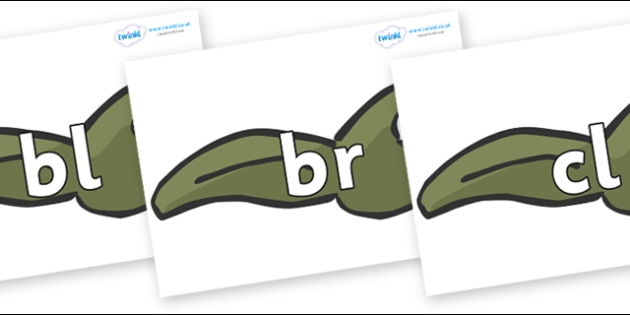 Initial Letter Blends on Tadpoles - Initial Letters, initial letter, letter blend, letter blends, consonant, consonants, digraph, trigraph, literacy, alphabet, letters, foundation stage literacy