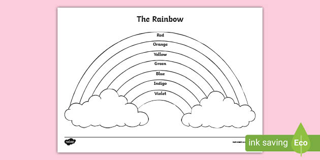 The Rainbow Colors Coloring Sheet (teacher Made)