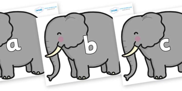 Phase 2 Phonemes on Elephants - Phonemes, phoneme, Phase 2, Phase two, Foundation, Literacy, Letters and Sounds, DfES, display