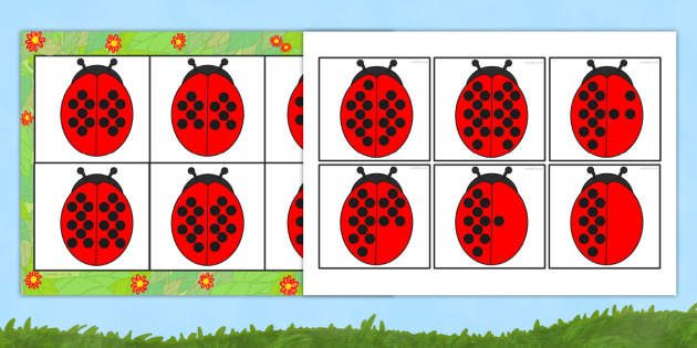 Ladybird Number Bond Bingo and Lotto Pack 10 to 20 - bingo, lotto