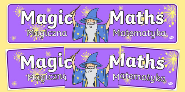Magic Maths Area Display Banner Purple Polish Translation - polish, maths, numeracy, banner