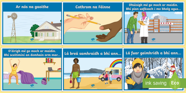 Irish Creative Writing Phrase Display Posters Gaeilge
