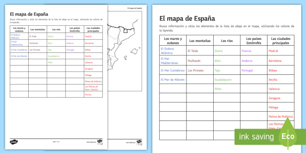The map of spain research worksheet activity sheet spanish the map of spain research worksheet activity sheet spanish spanish vocabulary topics ibookread PDF