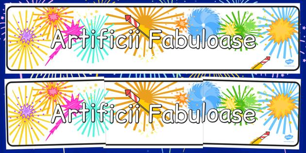 Banner - Focuri de artificii - banner, focuri de artificii, foc de artificii, anul nou, an nou, artificii, romanian, materiale, materiale didactice, română, romana, material, material didactic