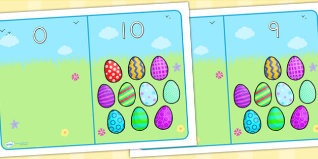 Easter Egg Number Bonds - matching numbers, numeracy, maths