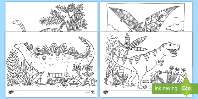 Dinosaurier Ausmalbilder Teacher Made