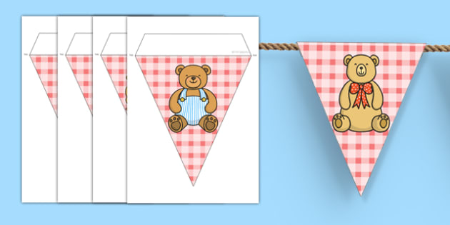 Teddy Bears Picnic Display Bunting - teddys bear, teddy display