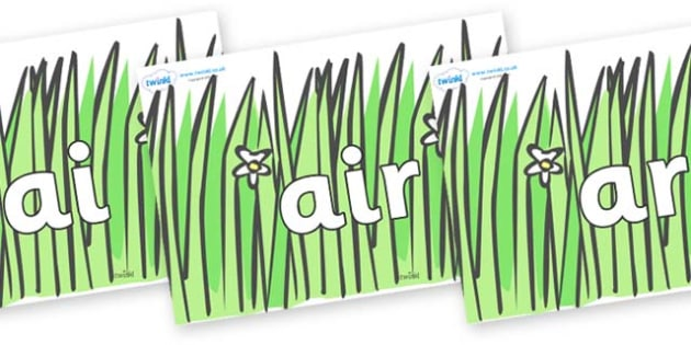 Phase 3 Phonemes on Wavy Grass - Phonemes, phoneme, Phase 3, Phase three, Foundation, Literacy, Letters and Sounds, DfES, display