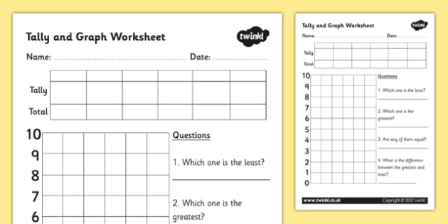 Block Graphs and Tally Chart Worksheet / Worksheet Template ...