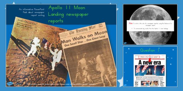 Apollo 11 Moon Landing Newspaper Reports Task PowerPoint - australia