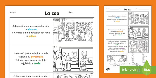 New Orientare Spațială La Zoo Fișă De Activitate Animale