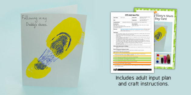Following in My Daddy's Shoes Father's Day Craft EYFS Adult Input Plan and Craft Pack